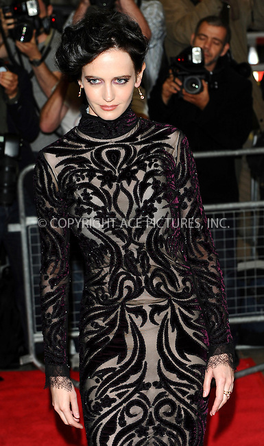 WWW.ACEPIXS.COM . . . . .  ..... . . . . US SALES ONLY . . . . .....October 4 2011, London....Eva Green at the premiere of 'Perfect Sense' at the Curzon Soho on October 4, 2011 in London, England. ....Please byline: FAMOUS-ACE PICTURES... . . . .  ....Ace Pictures, Inc:  ..Tel: (212) 243-8787..e-mail: info@acepixs.com..web: http://www.acepixs.com