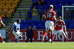 St Johnstone v Aberdeen....18.08.12   SPL.Nigel Hasselbaink gets a goal back.Picture by Graeme Hart..Copyright Perthshire Picture Agency.Tel: 01738 623350  Mobile: 07990 594431