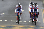 Team Great Britain take advantage of free practice on the Harrogate Circuit before the Men Elite Individual Time Trial of the UCI World Championships 2019 running 54km from Northallerton to Harrogate, England. 25th September 2019.<br /> Picture: Eoin Clarke | Cyclefile<br /> <br /> All photos usage must carry mandatory copyright credit (© Cyclefile | Eoin Clarke)