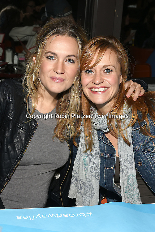 Lora Lee Gayer and Megan Silora attends the Broadway Cares/Equity Fights Aids Flea Market and Grand Auction on September 25, 2016 at the Music Box Theatre and in Shubert Ally in New York, New York, USA. <br /> <br /> photo by Robin Platzer/Twin Images<br />  <br /> phone number 212-935-0770