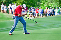 Jon Rahm (ESP) drains a huge putt on 16 during round 7 of the World Golf Championships, Dell Technologies Match Play, Austin Country Club, Austin, Texas, USA. 3/26/2017.<br /> Picture: Golffile | Ken Murray<br /> <br /> <br /> All photo usage must carry mandatory copyright credit (&copy; Golffile | Ken Murray)