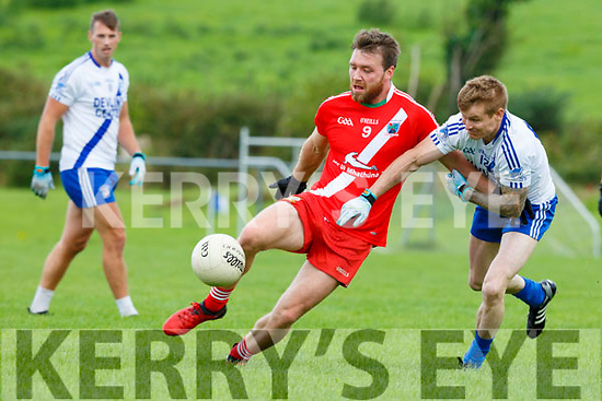 Ciaran O Coileain, An Ghaeltacht sets up another An Ghaeltacht attack despite the efforts of Adam Quirke, St Mary's during their Intermediate semi final in Killorglin on Sunday.