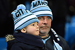 A young Manchester City fan before the start of the premier league match at the Etihad Stadium, Manchester. Picture date 16th December 2017. Picture credit should read: Robin ParkerSportimage