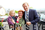 Christina Mangan and her niece Faith Hannah O?Connor, from Killarney pictured with Taoiseach Enda Kenny on Friday..