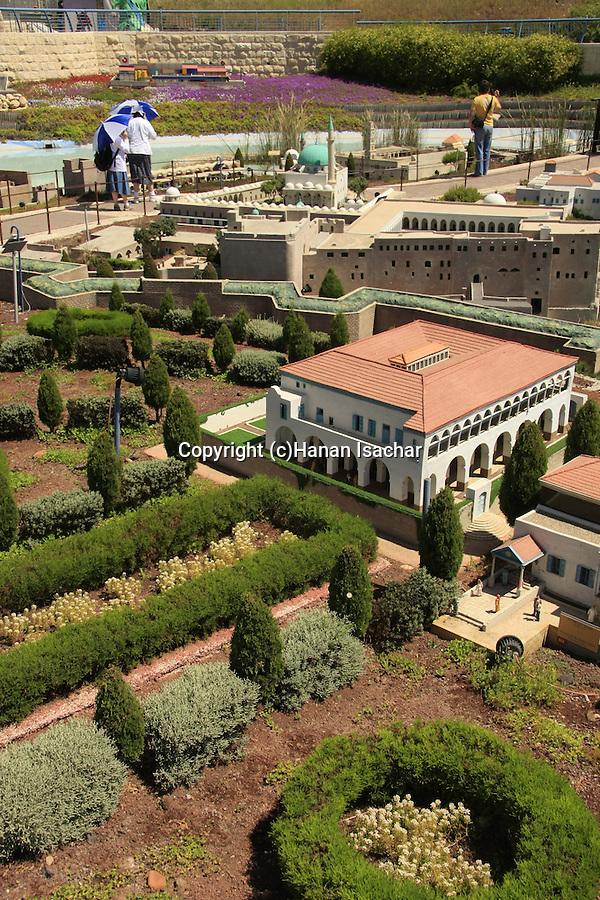 Israel, Shephelah. Mini Israel park in Ayalon valley