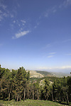 Isarael, Upper Galilee, a view from Biria fortress