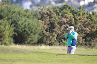 Caolan Rafferty from Ireland on the 11th fairway during Round 2 Foursomes of the Men's Home Internationals 2018 at Conwy Golf Club, Conwy, Wales on Thursday 13th September 2018.<br /> Picture: Thos Caffrey / Golffile<br /> <br /> All photo usage must carry mandatory copyright credit (&copy; Golffile | Thos Caffrey)