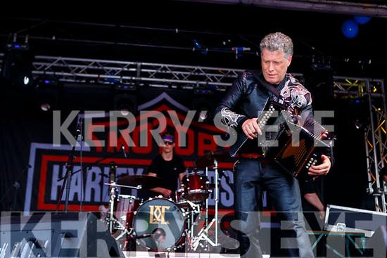 Liam O'Connor Killarney entertaining the crowds at Bike fest in Killarney on Sunday