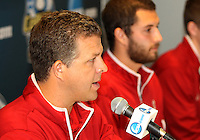 HOOVER, AL - DECEMBER 08, 2012:   Todd Yeagley coach of  Indiana University at a news conference before the NCAA 2012 Men's College Cup final , at Regions Park, in Hoover , AL, on Friday, December 07, 2012.
