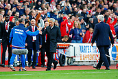 9th September 2017, bet365 Stadium, Stoke-on-Trent, England; EPL Premier League football, Stoke City versus Manchester United; Manchester United Manager Jose Mourinho ignores Stoke City Manager Mark Hughes and walks towards the dugout without shaking hands with Mark Hughes