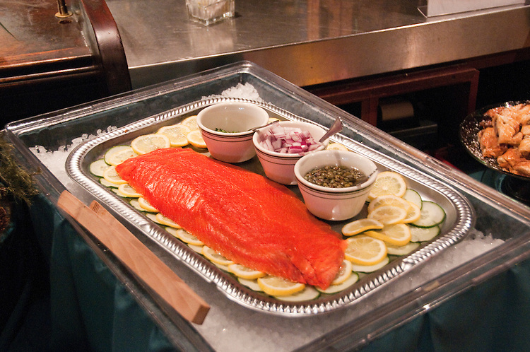 Berkeley, California: Spenger's restaurant brunch, smoked salmon. Photo copyright Lee Foster.  Photo # california123367