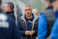 Cheltenham Town caretaker manager Russell Milton ahead of the Sky Bet League 2 match between Cheltenham Town and Grimsby Town at the The LCI Rail Stadium,  Cheltenham, England on 17 April 2017. Photo by PRiME Media Images / Mark Hawkins.