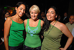 Catherine De La Santos, Veronica Gomez and Enid Sanchez at the St. Patrick's Day party at the Hotel ZaZa Monday March 17,2008.(Dave Rossman/For the Chronicle)