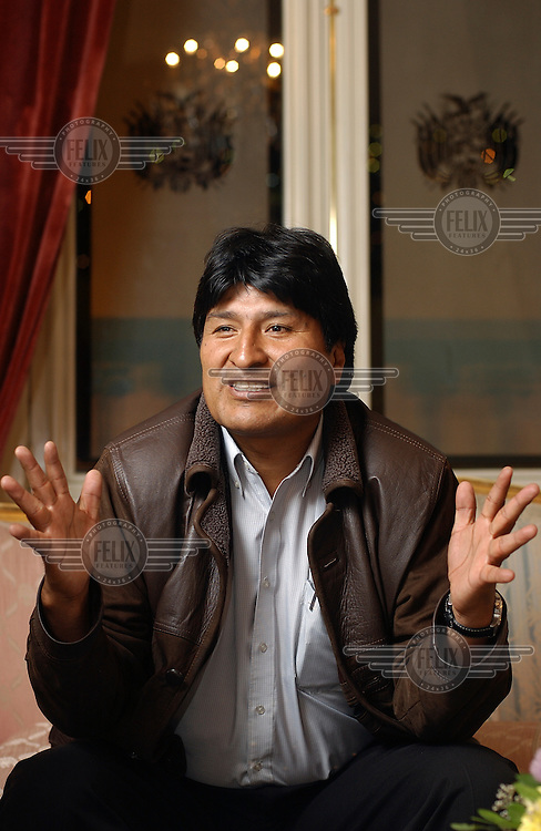 President Evo Morales at the presidential palace.Photo: Dermot Tatlow/Panos Pictures/Felix Features