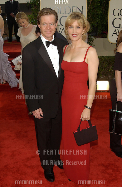 WILLIAM H. MACY & wife at the Golden Globe Awards at the Beverly Hills Hilton Hotel..19JAN2003...© Paul Smith / Featureflash