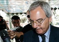 Il presidente della Lega Calcio Maurizio Beretta arriva alla riunione del Consiglio di Lega a Roma, 24 agosto 2011..UPDATE IMAGES PRESS/Riccardo De Luca