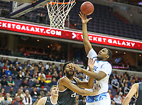 Washington, DC - March 11, 2018: Rhode Island Rams forward Andre Berry (34) makes a shot during the Atlantic 10 championship game between Rhode Island and Davidson at  Capital One Arena in Washington, DC.   (Photo by Elliott Brown/Media Images International)