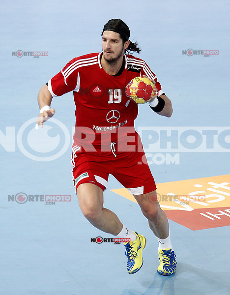 Hungary's Laszlo Nagy during 23rd Men's Handball World Championship preliminary round match Hungary v Spain.January 17,2013. (ALTERPHOTOS/Acero)