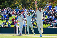 Kane Williamson of the Black Caps looks on as England appeal for his wicet during Day 2 of the Second International Cricket Test match, New Zealand V England, Hagley Oval, Christchurch, New Zealand, 31th March 2018.Copyright photo: John Davidson / www.photosport.nz