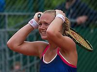 Paris, France, 28 June, 2016, Tennis, Roland Garros, Kiki Bertens (NED) defeated Daria Kasatkina (RUS) and celebrates<br /> Photo: Henk Koster/tennisimages.com