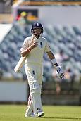 November 4th 2017, WACA Ground, Perth Australia; International cricket tour, Western Australia versus England, day 1; England player Joe Root walks off after being caught for 9 runs
