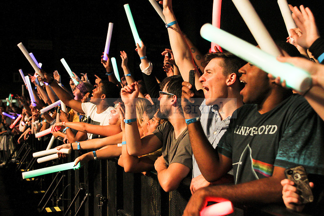 Fans yell and scream for Chance the Rapper during the Chance the Rapper Concert at Memorial Coliseum in Lexington, Ky., on Monday, October 13, 2014. Photo by Jonathan Krueger | Staff