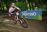 2012 Rockyroads.net UCI World Cup Mountain Biking Downhill, Val Di Sole Italy .Emanuel POMBO on 02/06/2012, Val Di Sole, Italy..© Pierre Teyssot