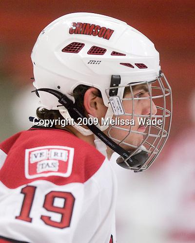 Alex Killorn (Harvard - 19) - The Dartmouth College Big Green defeated the Harvard University Crimson 6-2 on Sunday, November 29, 2009, at Bright Hockey Center in Cambridge, Massachusetts.