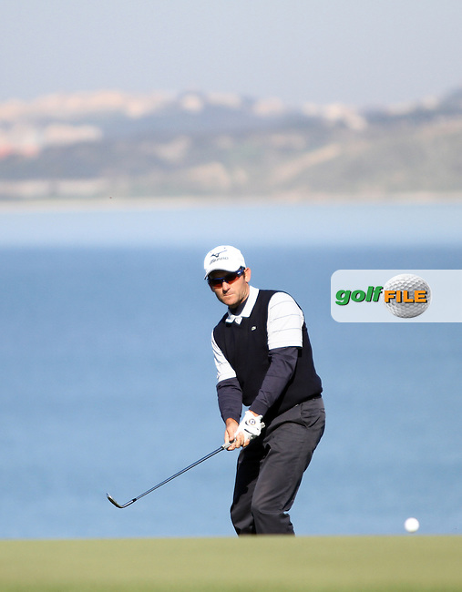 Ignacio Garrido (ESP) on the 18th on the 1st Day of the 2012 Sicilian Open at Verdura Golf and Spa Resort...(Photo Jenny Matthews/www.golffile.ie)