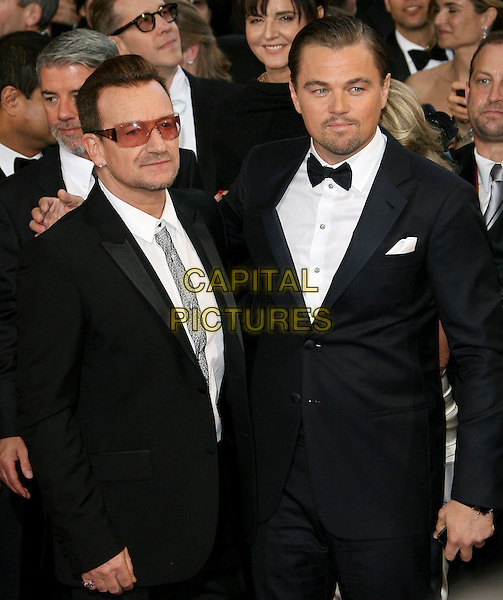 02 March 2014 - Hollywood, California - Bono, U2, Leonardo DiCaprio. 86th Annual Academy Awards held at the Dolby Theatre at Hollywood &amp; Highland Center. <br /> CAP/ADM<br /> &copy;AdMedia/Capital Pictures