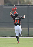 Ichiro Suzuki (Marlins),<br /> FEBRUARY 25, 2014 - MLB :<br /> Ichiro Suzuki of the Miami Marlins catches a ball during the Miami Marlins spring training camp in Jupiter, Florida, United States. (Photo by AFLO)