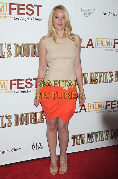 "Ludivine Sagnier.""The Devil's Double"" Los Angeles Premiere held at Regal Cinemas L.A. Live, Los Angeles, California, USA, .6th June 2011 .full length beige nude orange dress sleeveless sandals .CAP/ADM/RE.©Russ Elliot/AdMedia/Capital Pictures."