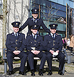 7/3/2016.   Attending the Garda graduations in Templemore College sitting Garda, Robert Kavanagh, Ballybrack who will be stationed in Rathmines,  Aidan Moran, Ballyhayes, Cavan who will be stationed Dundalk, Ciaran Twamley, Coolock who will be stationed in Pearse St and Aisling Butler, Inch, Co Tipperary who will be stationed Ashbourne, Meath.<br />
