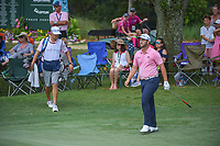 Jon Rahm (ESP) chips onto 9 well short of the hole during round 4 of The Players Championship, TPC Sawgrass, at Ponte Vedra, Florida, USA. 5/13/2018.<br /> Picture: Golffile | Ken Murray<br /> <br /> <br /> All photo usage must carry mandatory copyright credit (&copy; Golffile | Ken Murray)