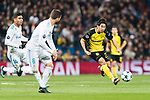 Borussia Dortmund Midfielder Shinji Kagawa (R) in action during the Europe Champions League 2017-18 match between Real Madrid and Borussia Dortmund at Santiago Bernabeu Stadium on 06 December 2017 in Madrid Spain. Photo by Diego Gonzalez / Power Sport Images