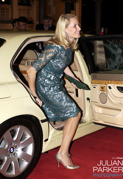 Crown Prince Haakon & Crown Princess Mette-Marit of Norway's visit to Thailand..Dinner at Government House..