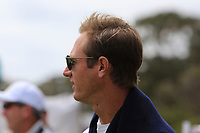 Nicolas Colsaerts (BEL) watching the 1st tee during the Second Round - Foursomes of the Presidents Cup 2019, Royal Melbourne Golf Club, Melbourne, Victoria, Australia. 13/12/2019.<br /> Picture Thos Caffrey / Golffile.ie<br /> <br /> All photo usage must carry mandatory copyright credit (© Golffile | Thos Caffrey)