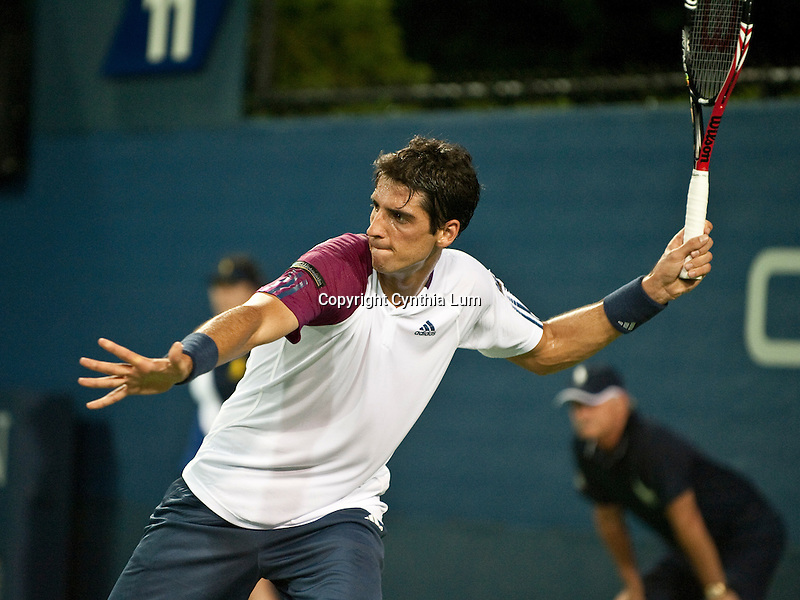 August 30, 2010.Thomaz Bellucci of Brazil, in action, defeating Tim Smyczek in the first round of the US Open, at the Billie Jean Tennis Center, Flushing Meadow, NY