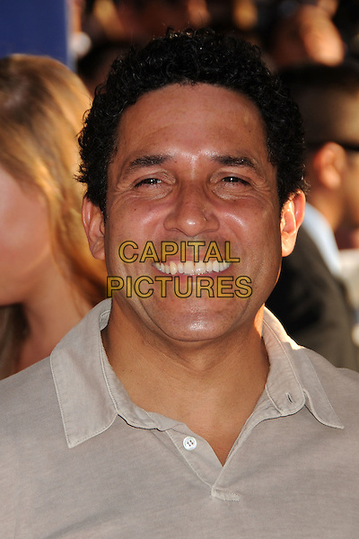 "Oscar Nunez.""Captain America: The First Avenger"" Los Angeles Premiere held at the El Capitan Theatre, Hollywood, California, USA..July 19th, 2011.headshot portrait grey gray smiling.CAP/ADM/BP.©Byron Purvis/AdMedia/Capital Pictures."