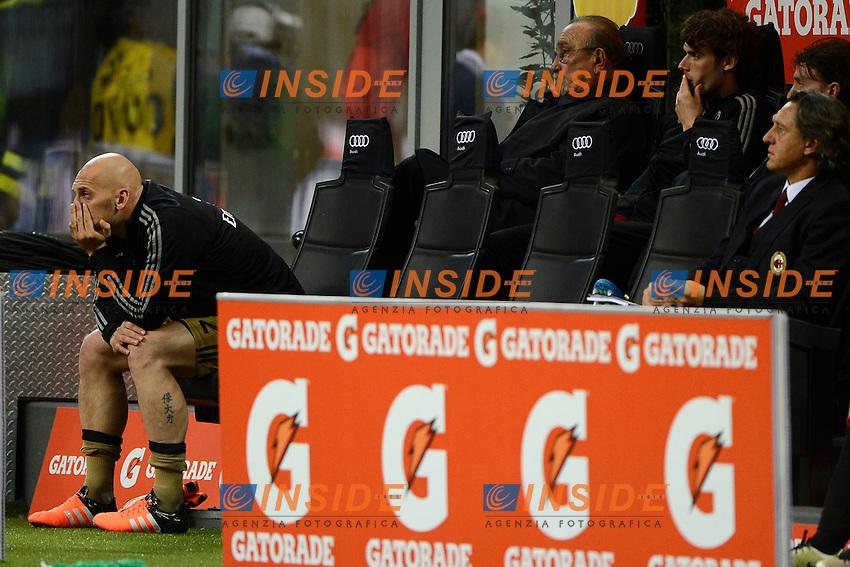 Rassegnazione Christian Abbiati Milan in panchina<br /> Milano 14-05-2016 Stadio Giuseppe Meazza - Football Calcio Serie A Milan - AS Roma. Foto Giuseppe Celeste / Insidefoto