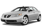 Low aggressive front three quarter view of a 2008 Pontiac G6 Sedan GT.