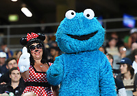 Fans and supporters and the Cookie Monster.<br /> New Zealand Blackcaps v England. 1st day/night test match. Eden Park, Auckland, New Zealand. Day 1, Thursday 22 March 2018. &copy; Copyright Photo: Andrew Cornaga / www.Photosport.nz