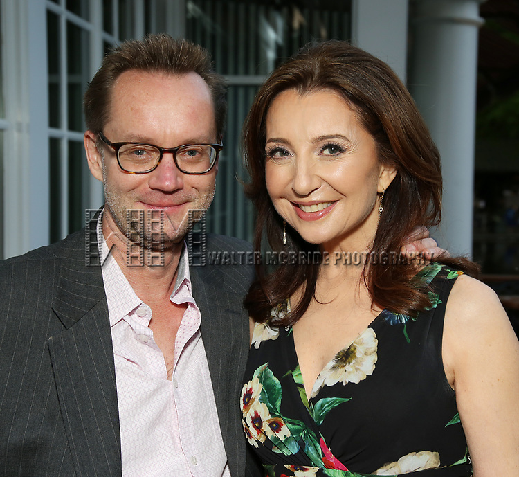 Michael Riedel and Donna Murphy attends the Urban Stages' 35th Anniversary celebrating Women in the Arts at the Central Park Boat House on May 15, 2019 in New York City.