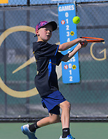 Action from the AIMS Games tennis at Blake Park in Mount Maunganui, New Zealand on Wednesday, 12 September 2018. Photo: Dave Lintott / lintottphoto.co.nz