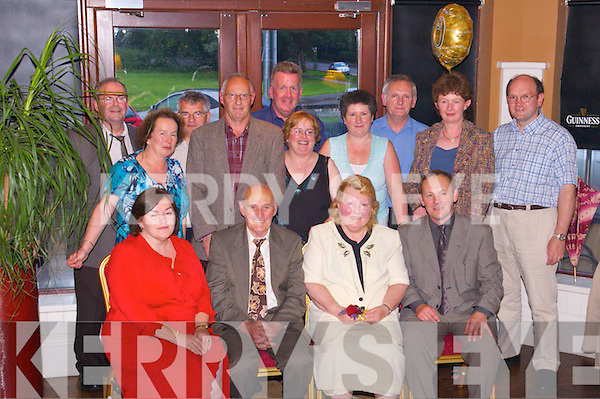 Golden Jubilee: Paddy and Rose Hussey of Hillview Drive, Caherslee, Tralee, celebrated.their Golden Jubilee with family and friends at O'Donnells Bar & Restaurant, Mounthawk,.on Saturday last. Front l-r: Jacinta, Paddy, Rose and Con Hussey. Middle row l-r:.Ann Conway, Edwin Eustace, Joan Hussey, Jacinta Walsh, Cordella and Jim Casey. Back.row l-r: Derry Casey, John Conway, Adrian Marsham and Willie Walsh (all from Tralee).