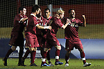 10 November 2010: BC's Amit Aburmad (16) celebrates his goal. The Duke University Blue Devils played the Boston College Eagles at Koka Booth Stadium at WakeMed Soccer Park in Cary, North Carolina in an ACC Men's Soccer Tournament Quarterfinal game.