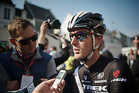 Andy Schleck (LUX/Trek Factory Racing) interviewed at the start<br /> <br /> Amstel Gold Race 2014