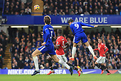 5th November 2017, Stamford Bridge, London, England; EPL Premier League football, Chelsea versus Manchester United; Alvaro Morata of Chelsea scores by a header making it 1-0