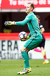 FC Barcelona's Marc-Andre Ter Stegen during La Liga match. September 24,2016. (ALTERPHOTOS/Acero)