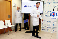 Spain´s King Juan Carlos I Doctor Angel Villamor (to be boyfriend of Princess Elena) explains the monarch´s clinical condition during a press conference at Quiron Hospital in Madrid, Spain. November 24, 2012. (ALTERPHOTOS/Caro Marin) /NortePhoto